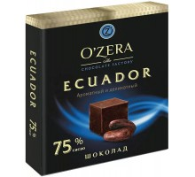 Шок. Озера 75%  Эквадор 90г*6шт.Оз..Сувенир