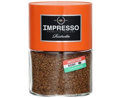 Импрессо Ристретто Стекло  100г*6шт кофе