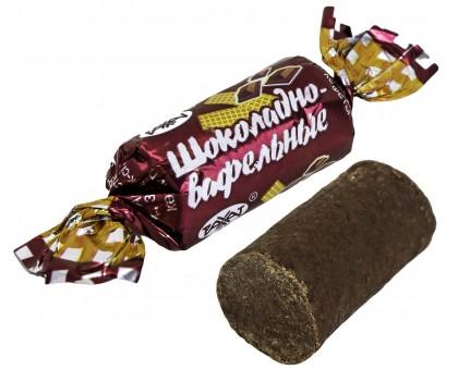 Батончики Шоколадно-вафельные 1кг*6шт Рахат.