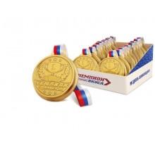 Медаль на ленточке 50г*20шт.Капля радуги