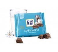 Риттер Спорт Альпийское  молоко молоч. 100г*12шт.