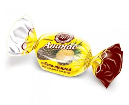 Ананас в бело-темной шоколадн. глазури 3кг Мик.