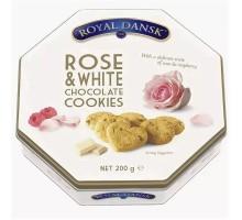 Печенье 200г*12шт Роял Данск малин/розы Дания жб