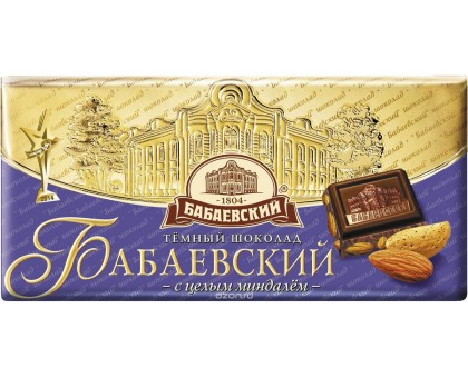 Бабаевский 200г*14шт горький с Миндалем