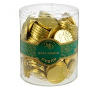 Монеты 6г*120шт.РУБЛИ/ ЕВРО/ПИРАТЫ  МД 0013